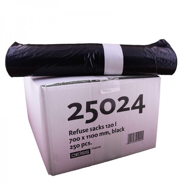 Abfallsack 120 lt. Typ 60, schwarz