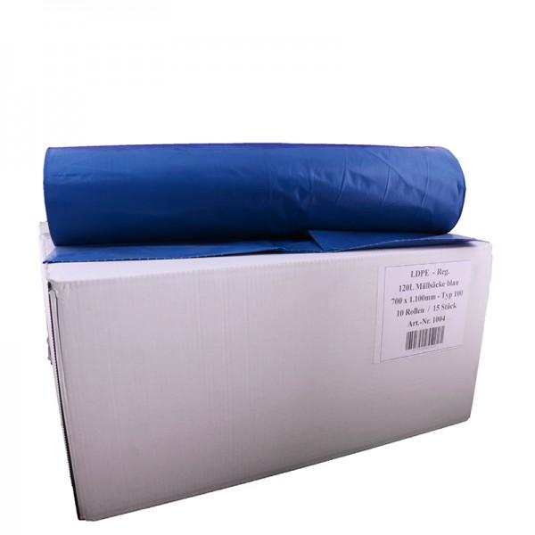 Abfallsack 120 lt. Typ 100, blau