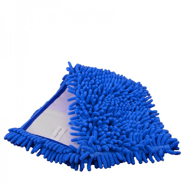 Microfasermop Chenille blau, 40 cm