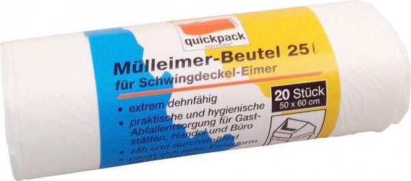Müllbeutel 25-30 lt., weiß, Quick Pack