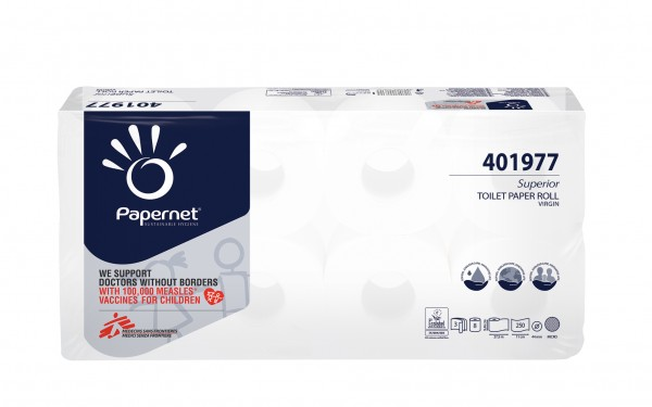 Toilettenpapier 3-lg., Hochweiß, 9 x 8 = 72 Rollen