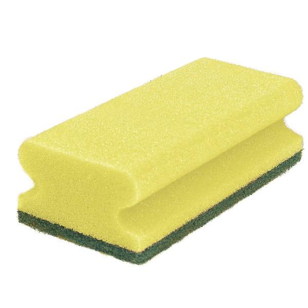 Pad-Schwamm, 15x7x4,5, gelb/grün
