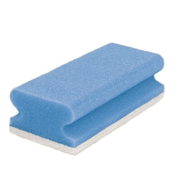 Pad-Schwamm, 15x7x4,5, blau/weiß