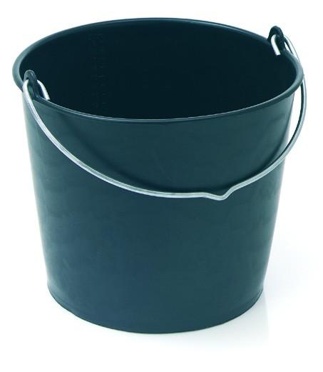 Baueimer schwarz, 12 Liter