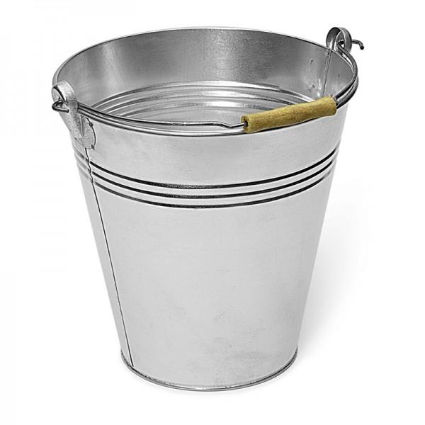 Eimer 10 Liter, Metall, verzinkt