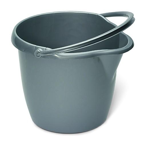 Eimer 12 Liter, rund, mit Ausguß