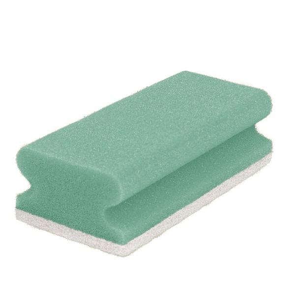 Pad-Schwamm, 15x7x4,5, grün/weiß